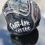 casque graff ink tattoo