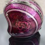 casque rose mauve - dos