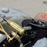 Harley Davidson Softail evo Old Lady, peinture imitation métal mate