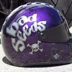 Casque intégral moto Bad Seeds, skulls et motifs