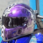 Casque intégral moto Bad Seeds, violet Candy