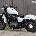 Harley Davidson Sporster Thai, une base de blanc pailleté nacré