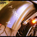 Harley Davidson Sporster Epona, motifs sur le garde boue arrière