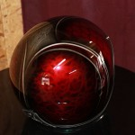.casque candy apple red et filet alu poli