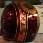 jeux de couleurs et de motifs inspirés de la civilisation des azteques...