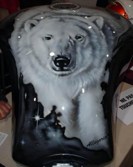 Divers travaux de peinture personnalis es pour le tuning - Tigre polaire ...